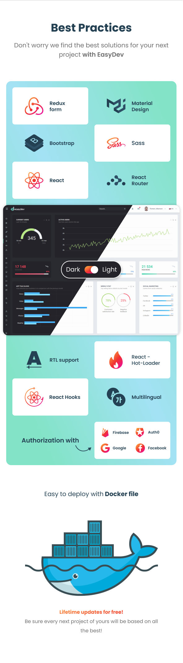EasyDev — React Redux BS4 Developer Friendly Admin Template + Seed Project - 3