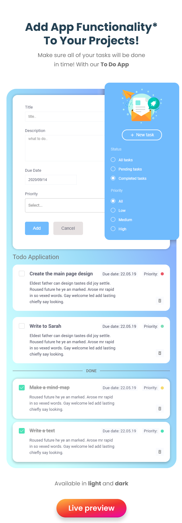 EasyDev — React Redux BS4 Developer Friendly Admin Template + Seed Project - 15