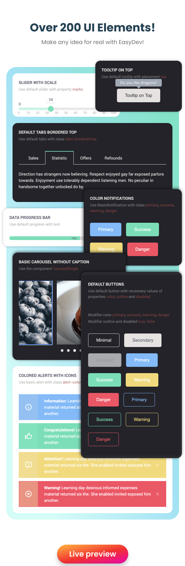 EasyDev — React Redux BS4 Developer Friendly Admin Template + Seed Project - 14