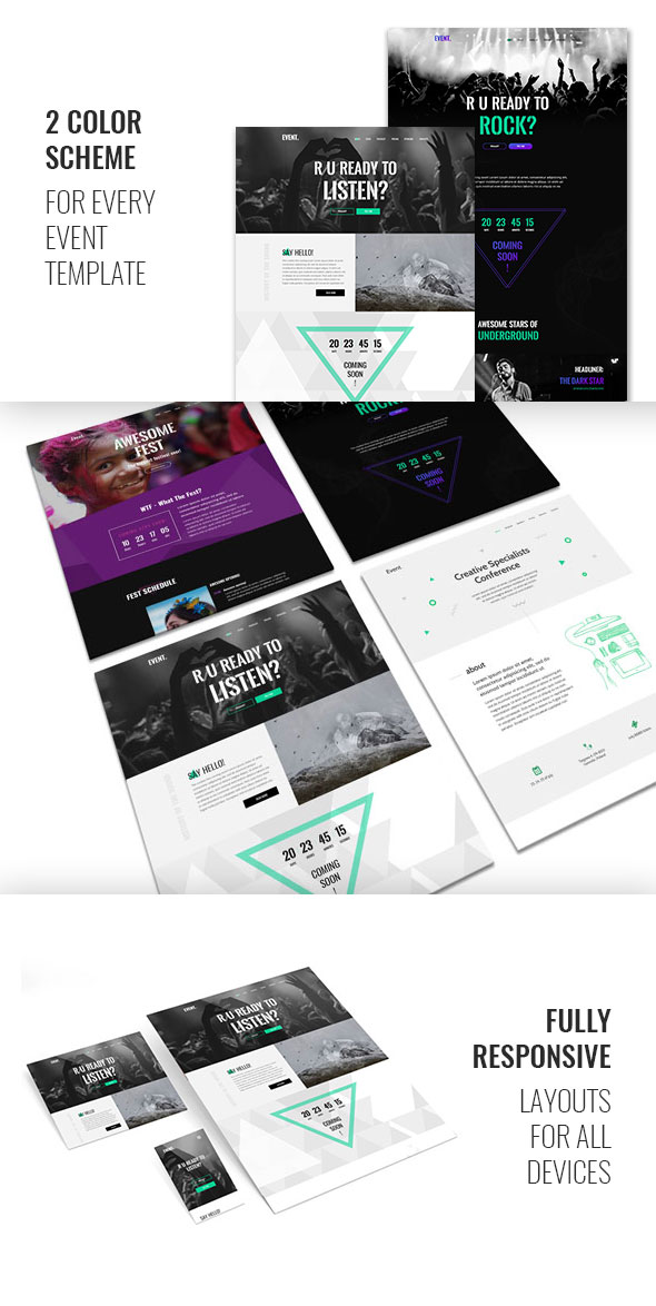 Event — Creative and Modern One Page HTML Template for Events - 2