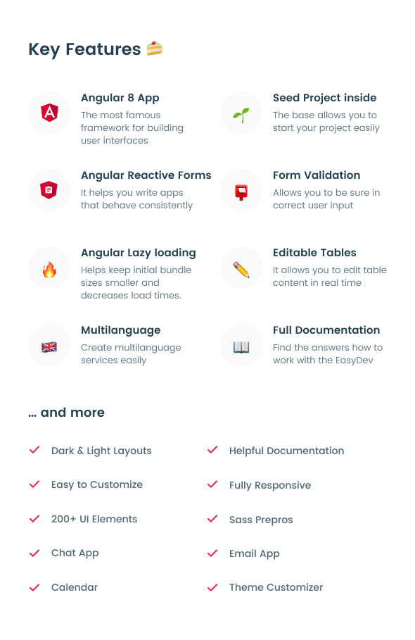 EasyDev-ng — Developer Friendly Angular 8 BS4 Admin Template + Seed Project - 7