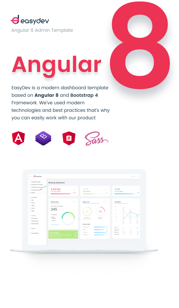 EasyDev-ng — Developer Friendly Angular 8 BS4 Admin Template + Seed Project - 4